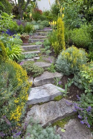That is How to Make Garden Steps on a Slope 7